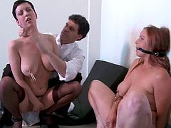 Three kinky chicks get tied up and humiliated. Some of these girls get toyed deep and hard. Others get their tits tortured.