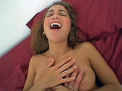 Alluring girlie with sexy body is pounded hard in wet mound in a missionary sex position. Then she takes hard dong from behind getting screwed bad doggy style.