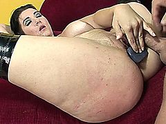 Busty Pornstar Does Anal And Swallows Cum
