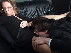 Caught And Treated By His Mistress inside A Office