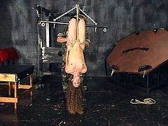 Alluring hottie gets dominated and punished by horny guy in top BDSM session