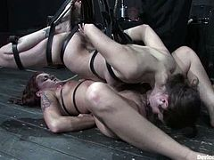 Would you like to torture two smoking hot sirens at a time? Well, that is so fucking interspersing to watch. babes loved it so bad!