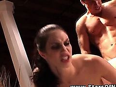 Faith Leon fucked hard from behind by her stud