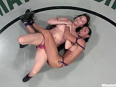 A couple of sluts wrestle naked in a ring and the winner gets to fucking bone the loser, check it out right here. It's awesome!