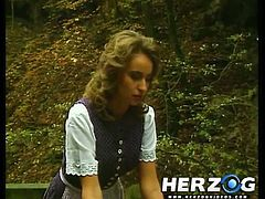 See the hot brunette belle Heidi devouring her doctor's cock in this hot vintage blowjob vid.