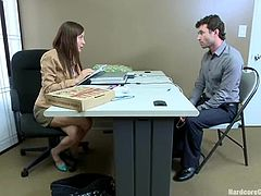 Hot Ava Addams gets double penetrated in the office