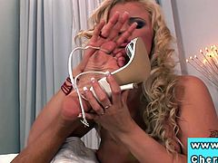 Cherry Jul and Anetta Keys foot trio with Kassey Kristal will keep you glued to the screen. Cum inside and watch as these hotties lick each others' sexy feet.
