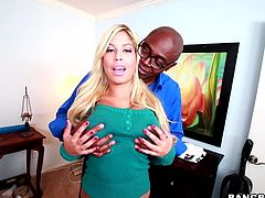 Big Black Cock Banging Bridgette B's Big Fat Oiled Up Ass
