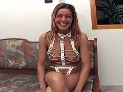 Spoiled curvy mature in BDSM-styled lingerie shows off her shabby body before she kneels down in front of rapaicious dude to let his piss on her ugly facein pov sex video by 21 Sextury.
