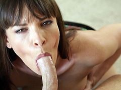 This juicy and desirable woman Dana Dearmond is taking this dude to the nirvana! She takes his cock in her mouth and sucks him to death!