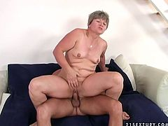 Lusty granny is riding young prick actively. Then she bends over the couch getting rammed hard from behind. So if you are into dirty mature women Magdolina is going to please your any sex desires.