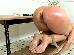 Ginger Syren De Mer has bound Up And made love inside the Kitchen
