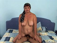 She is lustful mature mom missing good sex so she cheats on her man with young guy. She gets her hairy pie fingered intensively. Later she is shagged hard from behind. Finally, she is sexually satisfied.