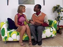 Holly Wellin is one cock-hungry white bitch who has no qualms about being trashy. The only thing she does have a problem with is getting fucked by a black guy. Watch her get duped and take a big black cock deep.