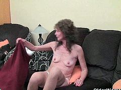 Vikki is a nympho. She loves to be fucked in every way possible. She rubs her hairy cunt as this guy told her to.