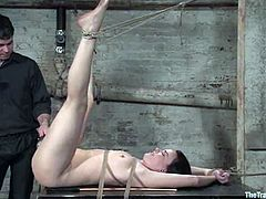 This sexy babe is being treated so bad! Danny Wylde ties her up and forces her to blow his hard cock. No matter how nasty she feels, the nature will push her for that cock!