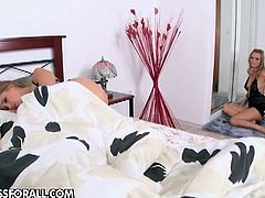 Sandra Sanchez and Eliska are two horny blondes with amazing lesbian skills. They enjoy switching turns to lick and toy their holes till an orgasm!