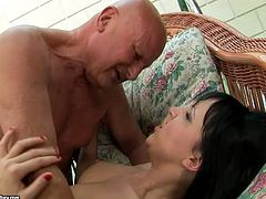 21 Sextury xxx clip will surely make you jizz. Zealous brunette with nice tits is fond of missionary style. This appetizing cutie with flossy ass gets her wet slit poked from behind too by fat bald headed man for much more pleasure.