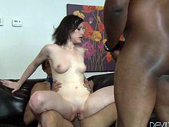 You are welcome here to be pleased with double penetrated brunette bitch. She enjoys theirs long shlongs in her ass hole and in her insatiable pussy.