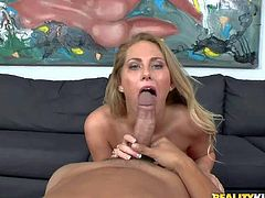 Juan Largo films naughty blonde in pov