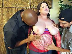 Drop dead sexy, breath takingly gorgeous, busty & thick and one hundred percent SLUT. Lisa Sparxxx is the complete package.Enjoy this horny bbw riding huge black cock while sucking on white cock.