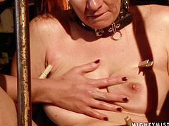 Wicked dominatrix clamps clothespins on slave's tongue, tits and thighs. Then she fingers her wet snatch actively until she cums. Make your ass comfortable in your seat and enjoy the action.