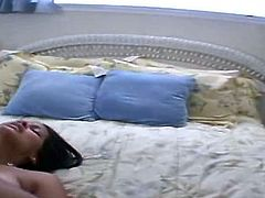 Kinky Indian brunette with big natural tits and big ass is fond of doggy fuck only. She moans passionately and spins madly while being fucked from behind on the bunk bed.