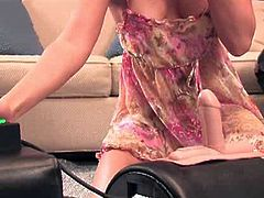 Stephanie Swift is a natural when it comes to video. She loves being in front of the camera! She wanted to share her first Sybian experience with you all. Her clit is very sensitive so she was a bit nervous about the vibrations that this fun sex toy has. The end result..she LOVED it! You can see pure pleasure in her face and lots of jazz in her movement.
