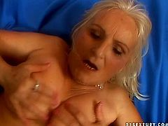Damn, this fat all wrinkled old whore is ugly as sin. This fat ropey slut gives a solid blowjob for sperm and waits to fill her mouth full with it. If you're a fan of spoiled old bitches then this 21 Sextury xxx clip is surely for you.