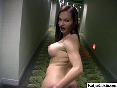 Buxom whore Katja Kassin gives her lover a great blowjob