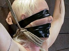 It's BDSM shit with the blonde Lorelei Lee totally tied up, tit tortured and toyed in a bondage and domination video courtesy of Isis Love.