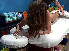 Brooklyn Chase gets a massage