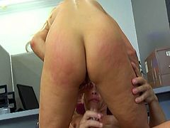 She get used to undergo her pussy heavy pounding and you can be pleased with her crazy jumping boobs while she rides big cock and gets her pussy fucked in doggy style.