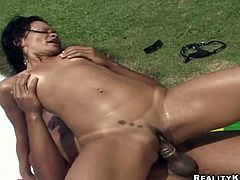 Sizzling Quezia is loving that thick Brazilian cock