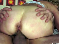 Damn, just have a look at this too voracious old bitch presented in 21 Sextury xxx clip. Dirty like mud oldie with huge ass and droopy big tits sucks a dick and desires to get her soaking mature cunt polished as tough as possible.