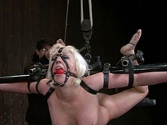 Cherry Torn and Lorelei Lee take their clothes off and get tortured with clothespins. They also get chained and forced to lick each others pussies.