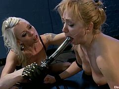 See how Lea Lexis moans and screams when she gets bounded doggystyle for a toying and crazy anal stimulation by Lorelei Lee.