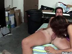 Two sex hungry dudes call up an ardent brunette prostitute. She sits in the middle giving their stiff cocks blowjob in turns remembering to stimulate them with her hands in threesome sex video by Pornstar.