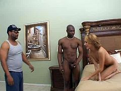 Skanky red-haired chic polishes vast black penis with her tongue before it pokes her worn out asshole in doggy style later switching to sideways position in sizzling hot interracial sex video by Pornstar.