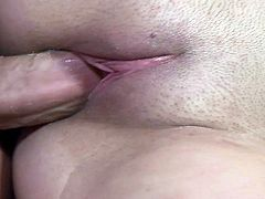 Some gorgeous slut sucks on a dude's hard dick and then takes it balls deep into her nice pink pussy in this amateur scene.