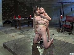The nastiest slut Maitresse Madeline is going to dominate a bunch of dudes, tying them up, strapon fucking them and more.