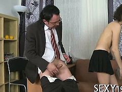 Attractive babe is hungry for teacher's rod