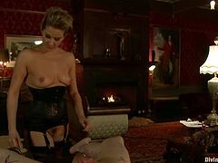Maitresse Madeline is going to play with a submissive guy in this femdom session packed with bondage and humiliation action.