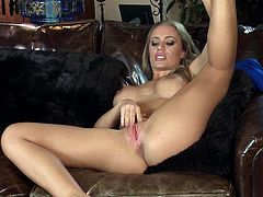 Cute blonde goes nasty in solo