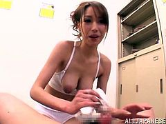 Japanese doll sucks that cock till it goes numb