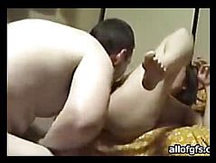 Girl climbed to the guy on the face of his pussy