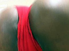 This dark-skinned temptress is a super qualified slut with big ass. Sex-starved bimbo lets her lover worship her gorgeous ass. Then they give pleasure to each other in 69 position.