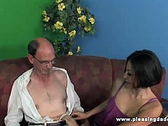 Watch how this old man Bob had a very hard day at the office, tons of paperwork, Until Lexy offered to help him with some natural stress relief. Bob thought she meant a massage but Lexy had something a little bit more fun in mind.
