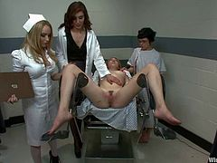 This is the naughtiest hospital you've seen as there's torture, domination, electrical sexual acts and more lesbian femdom action.