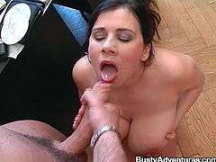 Office lady Ester orders her employee to fuck her, otherwise he is going to get fired. That's a damn blackmail and this bitch is going to enjoy it!